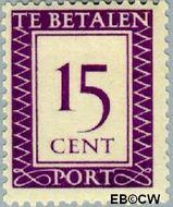 Suriname SU PT41  1950 Port 15 cent  Gestempeld