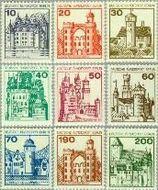 Berlin ber 532#540  1977 Burchten en kastelen  Postfris