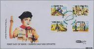 Aruba AR E153  2010 Scouting Aruba  cent  FDC zonder adres