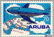 Aruba AR 114  1992 Postverkeer 70+35 cent  Gestempeld