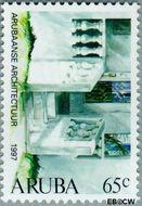 Aruba AR 194  1997 Architectuur 65 cent  Gestempeld
