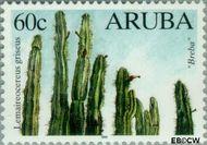 Aruba AR 225  1999 Cactussen 60 cent  Gestempeld