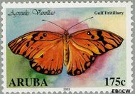 Aruba AR 305  2003 Vlinders 175 cent  Gestempeld