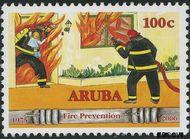 Aruba AR 368  2006 Brandweer 205 cent  Gestempeld