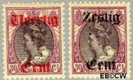 Nederland NL 102#103  1919 Koningin Wilhelmina- Hulpuitgifte  cent  Gestempeld