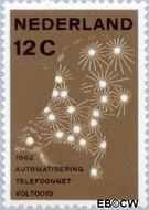 Nederland NL 772  1962 Automatisering telefoonnet 12 cent  Gestempeld