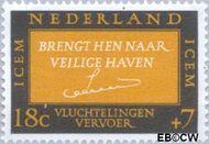 Nederland NL 856  1966 ICEM 18+7 cent  Gestempeld