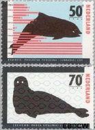 Nederland NL 1338#1339  1985 Bedreigde dieren  cent  Gestempeld