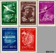 Nederlandse Antillen NA 239#243  1952 Zeemanswelvaren  cent  Gestempeld