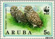 Aruba AR 134  1994 Wereld Natuur Fonds 5 cent  Gestempeld