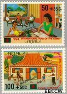 Aruba AR 140#141  1994 Solidariteit  cent  Gestempeld