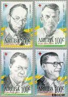 Aruba AR 171#174  1996 Politici  cent  Gestempeld