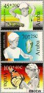 Aruba AR 18#20  1986 Kind en insect  cent  Postfris