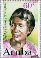 Aruba AR 184  1996 Bekende vrouwen 60 cent  Gestempeld