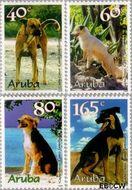 Aruba AR 228#231  1999 Honden  cent  Gestempeld