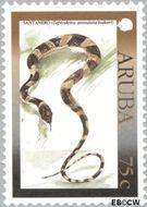 Aruba AR 245  2000 Hagedissen 75 cent  Gestempeld