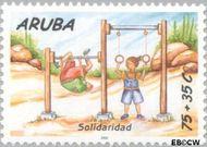 Aruba AR 255  2000 Solidariteit 75+35 cent  Gestempeld
