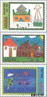 Aruba AR 257#259  2000 Kindertekeningen  cent  Gestempeld