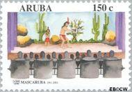 Aruba AR 265  2001 Mascaruba 40 jaar 150 cent  Gestempeld