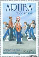 Aruba AR 275  2001 Kinderzegels 40+20 cent  Gestempeld
