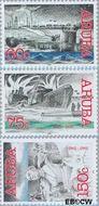 Aruba AR 288#290  2002 Historische serie  cent  Gestempeld