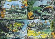 Aruba AR 380a#380d  2007 Wrakken in het rif  cent  Gestempeld