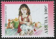 Aruba AR 382  2007 Kerst en nieuwjaar 100 cent  Gestempeld