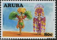 Aruba AR 392  2008 Cultureel jaar 80 cent  Gestempeld