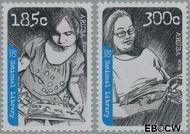 Aruba AR 425#426  2009 Nationale bibliotheek  cent  Postfris