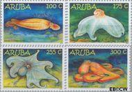 Aruba AR 496#499  2010 Octopus  cent  Postfris