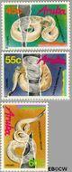 Aruba AR 61#63  1989 Bedreigde dieren  cent  Postfris