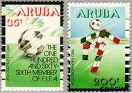Aruba AR 76#77  1990 WK Voetbal  cent  Postfris