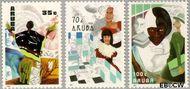 Aruba AR 89#91  1991 Vrouwen en werk  cent  Postfris