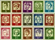 Berlin ber 199#213  1961 Bekende Duitsers  Postfris