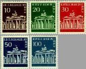 Berlin ber 286#290  1966 Brandenburger Tor  Postfris