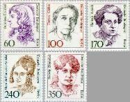 Berlin ber 824#828  1988 Bekende vrouwen  Postfris