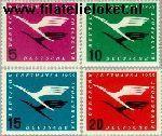 Bundesrepublik BRD 205#208  1955 Lufthansa  Postfris