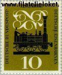Bundesrepublik BRD 345#  1960 Spoorwegen  Postfris
