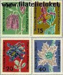 Bundesrepublik BRD 392#395  1963 Postzegeltentoonstelling Flora en filatelie  Postfris