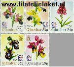 Gibraltar gib 722#726  1995 Postzegeltentoonstelling Singapore  Postfris