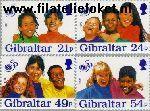 Gibraltar gib 770#773  1996 UNICEF  Postfris