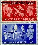 Groot-Brittannië grb 255#256  1951 Festival tentoonstelling  Postfris