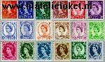 Groot-Brittannië grb 318#334y  1959 Koningin Elizabeth- Meervoudiger kronen- Grafiet  Postfris