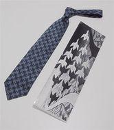 M.C. Escher stropdas blauw