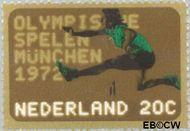 Nederland NL 1012  1972 Olympische Spelen- München 20 cent  Gestempeld
