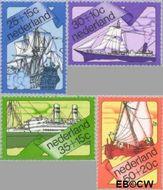 Nederland NL 1026#1029  1973 Schepen  cent  Postfris