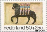 Nederland NL 1081  1975 Gevelstenen 50+25 cent  Gestempeld