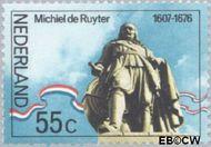 Nederland NL 1089#  1976 Ruyter, M.A. De  cent  Gestempeld