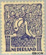 Nederland NL 110  1923 Diverse voorstellingen 1 cent  Gestempeld