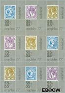 Nederland NL 1101-1102BL  1976 Int. Postzegeltentoonstelling Amphilex '77  cent  Postfris